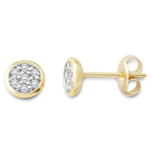Miore-Damen-Ohrstecker-9-Karat-375-Gelbgold-Brillanten-018ct-MG9138E-0